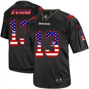Wholesale Cheap Nike Buccaneers #13 Mike Evans Black Men's Stitched NFL Elite USA Flag Fashion Jersey