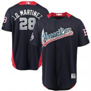 Wholesale Cheap Red Sox #28 J. D. Martinez Navy Blue 2018 All-Star American League Stitched MLB Jersey
