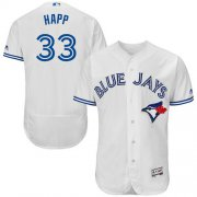 Wholesale Cheap Blue Jays #33 J.A. Happ White Flexbase Authentic Collection Stitched MLB Jersey
