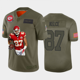 Cheap Kansas City Chiefs #87 Travis Kelce Nike Team Hero 6 Vapor Limited NFL Jersey Camo