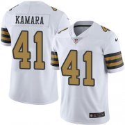 Wholesale Cheap Nike Saints #41 Alvin Kamara White Youth Stitched NFL Limited Rush Jersey