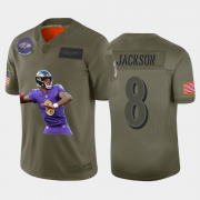Cheap Baltimore Ravens #8 Lamar Jackson Nike Team Hero 6 Vapor Limited NFL Jersey Camo