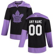 Wholesale Cheap Toronto Maple Leafs Adidas Hockey Fights Cancer Custom Practice Jersey Black
