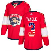 Wholesale Cheap Adidas Panthers #3 Keith Yandle Red Home Authentic USA Flag Stitched Youth NHL Jersey