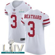 Wholesale Cheap Nike 49ers #3 C.J. Beathard White Super Bowl LIV 2020 Men's Stitched NFL Vapor Untouchable Elite Jersey