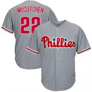 Wholesale Cheap Phillies #22 Andrew McCutchen Grey Cool Base Stitched Youth MLB Jersey
