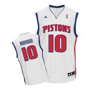 Wholesale Cheap Detroit Pistons #10 Greg Monroe White Swingman Jersey