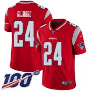 Wholesale Cheap Nike Patriots #24 Stephon Gilmore Red Men's Stitched NFL Limited Inverted Legend 100th Season Jersey