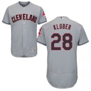 Wholesale Cheap Indians #28 Corey Kluber Grey Flexbase Authentic Collection Stitched MLB Jersey