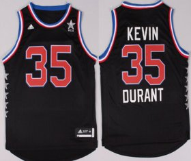 Wholesale Cheap 2015 NBA Western All-Stars #35 Kevin Durant Revolution 30 Swingman Black Jersey