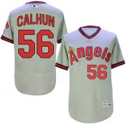 Wholesale Cheap Angels of Anaheim #56 Kole Calhoun Grey Flexbase Authentic Collection Cooperstown Stitched MLB Jersey