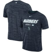 Wholesale Cheap Seattle Mariners Nike Authentic Collection Velocity Team Issue Performance T-Shirt Navy