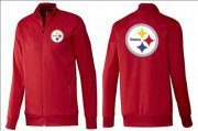 Wholesale Cheap NFL Pittsburgh Steelers Team Logo Jacket Red