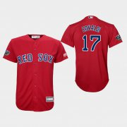 Wholesale Cheap Red Sox #17 Nathan Eovaldi Red Cool Base 2018 World Series Stitched Youth MLB Jersey