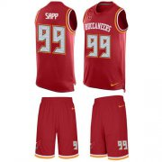 Wholesale Cheap Nike Buccaneers #99 Warren Sapp Red Team Color Men's Stitched NFL Limited Tank Top Suit Jersey