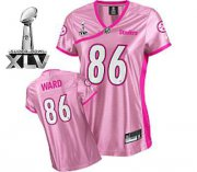 Wholesale Cheap Steelers #86 Hines Ward Pink Lady Super Bowl XLV Stitched NFL Jersey