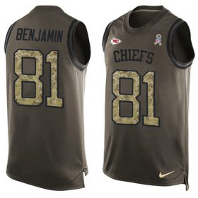 Wholesale Cheap Nike Chiefs #81 Kelvin Benjamin Green Men\'s Stitched NFL Limited Salute To Service Tank Top Jersey