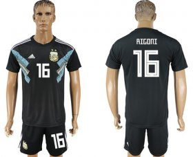 Wholesale Cheap Argentina #16 Rigoni Away Soccer Country Jersey