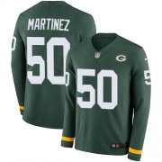Wholesale Cheap Nike Packers #50 Blake Martinez Green Team Color Men's Stitched NFL Limited Therma Long Sleeve Jersey