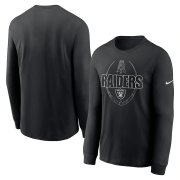 Wholesale Cheap Las Vegas Raiders Nike Icon Legend Performance Long Sleeve T-Shirt Black