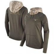 Wholesale Cheap Women's New York Jets Nike Olive Salute to Service Performance Pullover Hoodie