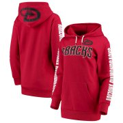 Wholesale Cheap Arizona Diamondbacks G-III 4Her by Carl Banks Women's Extra Innings Pullover Hoodie Red