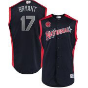 Wholesale Cheap National League #17 Kris Bryant Majestic 2019 MLB All-Star Game Workout Player Jersey Navy