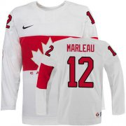Wholesale Cheap Olympic 2014 CA. #12 Patrick Marleau White Stitched NHL Jersey