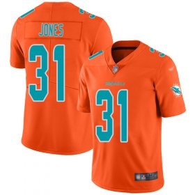Wholesale Cheap Nike Dolphins #31 Byron Jones Orange Men\'s Stitched NFL Limited Inverted Legend Jersey