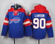 Wholesale Cheap Nike Bills #90 Shaq Lawson Royal Blue Player Pullover NFL Hoodie