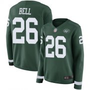 Wholesale Cheap Nike Jets #26 Le'Veon Bell Green Team Color Women's Stitched NFL Limited Therma Long Sleeve Jersey