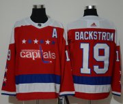 Wholesale Cheap Adidas Capitals #19 Nicklas Backstrom Red Alternate Authentic Stitched NHL Jersey