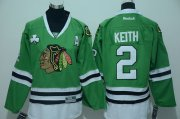 Wholesale Cheap Blackhawks #2 Duncan Keith Green Stitched Youth NHL Jersey