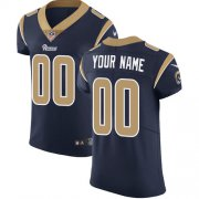Wholesale Cheap Nike Los Angeles Rams Customized Navy Blue Team Color Stitched Vapor Untouchable Elite Men's NFL Jersey