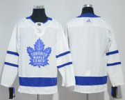 Wholesale Cheap Adidas Maple Leafs Blank White Road Authentic Stitched NHL Jersey