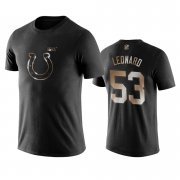 Wholesale Cheap Colts #53 Darius Leonard Black NFL Black Golden 100th Season T-Shirts