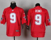 Wholesale Cheap Nike Cowboys #9 Tony Romo Red Men's Stitched NFL Elite QB Practice Jersey