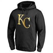 Wholesale Cheap Kansas City Royals Gold Collection Pullover Hoodie Black