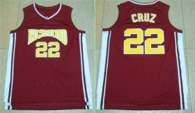 Wholesale Cheap Richmond Oilers 22 Timo Cruz Home Coach Carter Movie Stitched Jersey