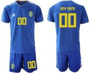 Wholesale Cheap Sweden Personalized Away Soccer Country Jersey