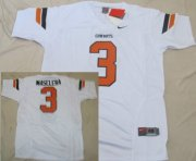 Wholesale Cheap Oklahoma State Cowboys #3 Isaac Maselera White Jersey