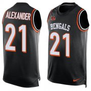 Wholesale Cheap Nike Bengals #21 Mackensie Alexander Black Team Color Men's Stitched NFL Limited Tank Top Jersey