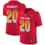 Wholesale Cheap Nike Jaguars #20 Jalen Ramsey Red Men's Stitched NFL Limited AFC 2018 Pro Bowl Jersey