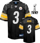Wholesale Cheap Steelers #3 Jeff Reed Black Super Bowl XLV Stitched NFL Jersey
