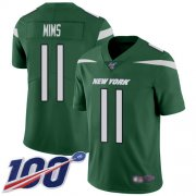 Wholesale Cheap Nike Jets #11 Denzel Mim Green Team Color Youth Stitched NFL 100th Season Vapor Untouchable Limited Jersey