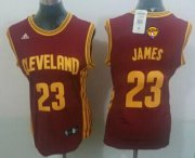 Wholesale Cheap Women's Cleveland Cavaliers #23 LeBron James Red 2016 The NBA Finals Patch Jersey