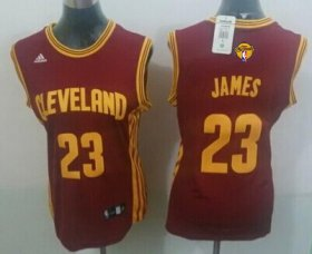 Wholesale Cheap Women\'s Cleveland Cavaliers #23 LeBron James Red 2016 The NBA Finals Patch Jersey