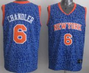 Wholesale Cheap New York Knicks #6 Tyson Chandler Blue Leopard Print Fashion Jersey