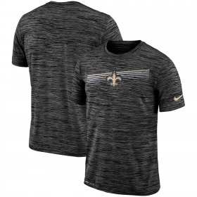 Wholesale Cheap New Orleans Saints Nike Sideline Velocity Performance T-Shirt Heathered Black