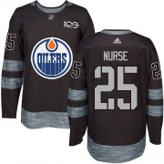 Wholesale Cheap Adidas Oilers #25 Darnell Nurse Black 1917-2017 100th Anniversary Stitched NHL Jersey